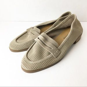 🍀 New SZ 6.5 Lucky Brand Suede Penny Loafers